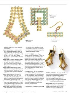 Beading Techniques, Beading Tutorials, Beaded Jewelry Patterns, Beading Patterns, Seed Bead Earrings, Beaded Earrings, Ideas Joyería, Beaded Embroidery, Beaded Lace