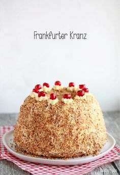 {From Grandma& recipe booklet} Frankfurter Kranz - Raspberrysue cake wedding cake kindergeburtstag ohne backen rezepte schneller cake cake Cupcake Recipes, Baking Recipes, Cookie Recipes, Dessert Recipes, Desserts, Bread Recipes, German Baking, German Cake, Cupcakes