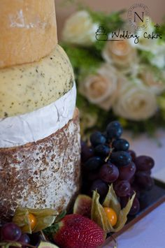 Northumberland Nettle cheese as part of a wedding cheese cake. Gorgeous.