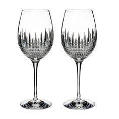 Waterford Lismore Diamond Pair of Goblets
