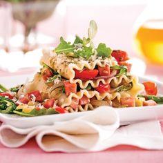 Lasagne express au jambon - Soupers de semaine - Recette minceur - Recette express 5/15 - Pratico Pratiques