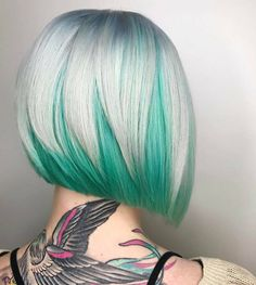 Färbe Deine Haare mal grün! Nie gedacht, dass diese Farbe so super aussieht! - Neue Frisur
