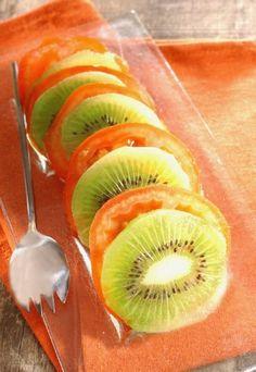 ensalada de kiwi con tomate