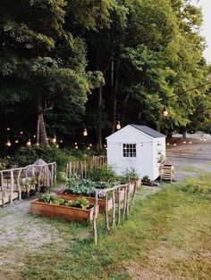 Contemporary Garden Design my scandinavian home: Dream Life On A Budget: A Tiny Cabin And Pottery Studio In The Woods.Contemporary Garden Design my scandinavian home: Dream Life On A Budget: A Tiny Cabin And Pottery Studio In The Woods Farm Gardens, Outdoor Gardens, Modern Gardens, Small Gardens, Outdoor Life, Garden Cottage, Home And Garden, Garden Beds, Farm Cottage