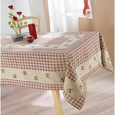 Nappe de table 150x240cm OLIVE ROUGE Lin/Polyester - Achat / Vente nappe de table - Cdiscount