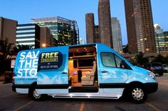 Love It!!  Save The Storks - Building Mobile Ultrasound Units - deploys vans equipped with sonogram equipment to abortion clinics where they do not protest.  Gently offer to show pregnant women their baby ultrasounds; many choose life after seeing the images.