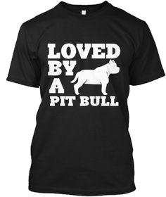 Black Color unisex Tshirts Love by a Pit Bull   Dog T-Shirts   Dog Shirts   Tank Top   Hoodies   Funny Dog T-Shirts   Dog Lovers t-Shirt   Etsy