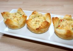 Quiche Muffins, Salty Snacks, Food Art, Baked Potato, Cauliflower, Bacon, Food And Drink, Appetizers, Pizza