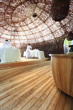 The organic feel makes the spa even more relaxing and the treatments that much more effective with fresh air.