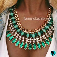 Turquoise Necklace, Shades, Yellow, Green, Jewelry, Fashion, Moda, Jewlery, Jewerly