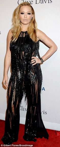 Britney Spears wows in transparent starburst frock | Daily Mail Online