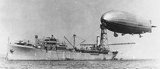 USS Shenandoah (ZR-1) moored to the USS Patoka AO9