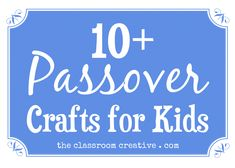 A round up of Passover crafts for kids!