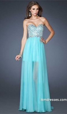 2015 Sweetheart Fitted And Beaded Bodice A Line With Flowing Long Chiffon Skirt  http://www.ikmdresses.com/2014-Sweetheart-Fitted-And-Beaded-Bodice-A-Line-With-Flowing-Long-Chiffon-Skirt-p84384