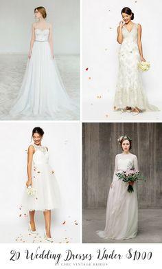 20 Wedding Dresses Under $1000
