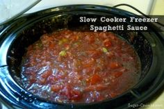 Slow cooker spaghetti sauce, Slow cooker spaghetti and Spaghetti sauce ...