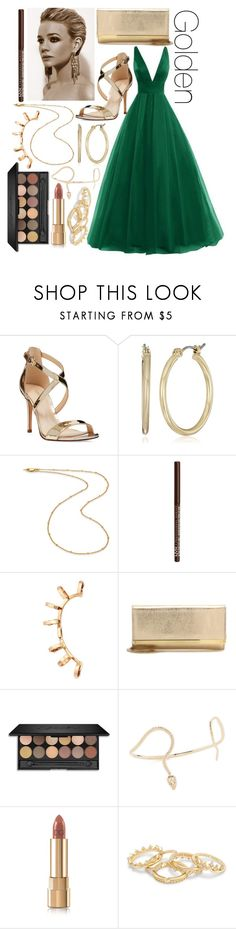 """Golden"" by leonorgomes on Polyvore featuring Nine West, Missoma, NYX, Repossi, Jimmy Choo, Nora Kogan and Dolce&Gabbana"