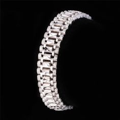 18K Real Gold/Platinum Plated Bracelet Cool Rock Style New 19 cm 12 MM Thick Chain Link Bracelet Men Jewelry Wholesale U7