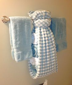 creative ways to display towels in bathroom | Hand towel display for guest bath | For the Home