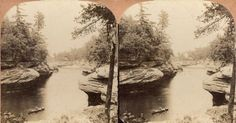 Rock Formations at The Narrows | Photograph | Wisconsin Historical Society
