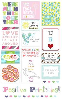 Positive printables by AngelHeart727