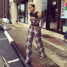 How to Rock Out In Ankara Dungarees - Sisi Couture African Inspired Fashion, African Print Fashion, Africa Fashion, African Fashion Dresses, African Prints, African Attire, African Wear, African Women, African Dress