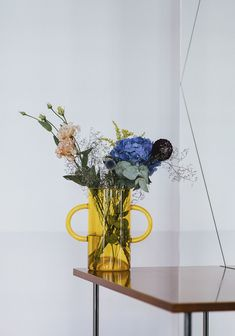 Week of July 2018 - Sight Unseen-Week of July 2018 – Sight Unseen Yellow glass vase for Autor Rooms Photo © Basia Kuligowska & Przemek Nieciecki - Flower Vases, Flower Art, Flower Arrangements, Yellow Vase, Home Decor Vases, Antique Perfume Bottles, Hand Blown Glass, Accent Colors, Glass Art