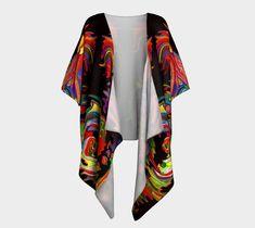 "Draped+Kimono+""FRIEDRICH+BLACK""+by+ART+OF+THE+MYSTIC+OTTO+RAPP Chiffon Fabric, Artwork Prints, Mystic, My Design, Kimono Top, Dress Up, Glamour, Knitting, My Style"