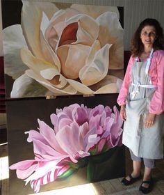 Melbourne Mother of triplets blooms at Painting Workshop