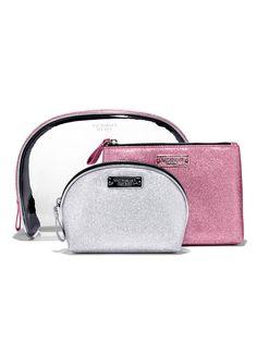 Cosmetic Bag Trio in Silver/Pink $45 - Victoria's Secret - Victoria's Secret