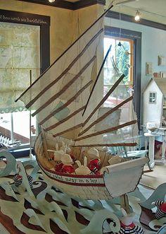 DIY: paper boat art