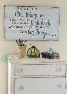 """Enjoy the little things"" Wood Sign {customizable} – Aimee Weaver Designs, LLC"