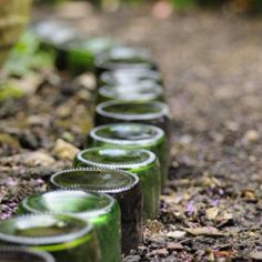 reuse/recycle bottles for landscaping