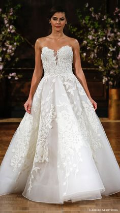 isabelle armstrong bridal spring 2017 strapless sweetheart aline wedding dress (charlie) mv romantic