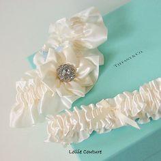 Wedding Garter Set Reception Garter Toss Wedding by lolliecouture