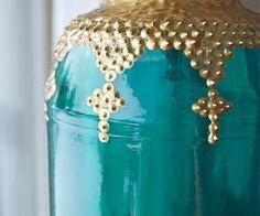 gold dimensional paint dots