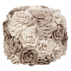 I pinned this Blossoms Pouf from the Country Elegance event at Joss and Main! Fun Pouf that would look great in any room full of elegant neutrals, or with linens and burlap.