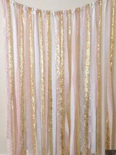 Wedding Fabric Backdrop - gold, white, pink, GARLAND, baby shower by MOgorgeous on Etsy https://www.etsy.com/listing/213165646/wedding-fabric-backdrop-gold-white-pink