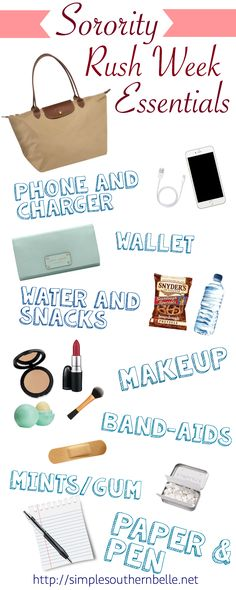 "sororityrushweekessentials. Note: Personally, I would never bring gum. You may forget to take it out! Don't be that girl. Xo *More to the point via 37 Things I Wish I Had Known Before Going Through Recruitment Catie Warren  ""Don't chew gum. It's rude."" http://totalsororitymove.com/37-things-i-wish-i-had-known-before-going-through-recruitment/"