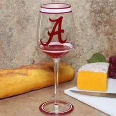 I can so see me drinking an adult beverage in this while i am watching them stomp the irish! Alabama Crimson Tide 15oz. Hand-Painted Wine Glass  #Fanatics