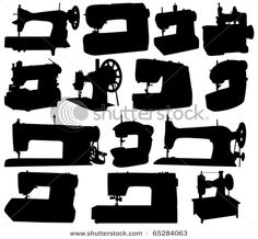 Some nice sewing machine silhouettes