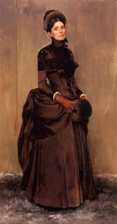 Women and Fashions of the Victorian Era: From Hoop Skirts to Bustles - 1837 - 1900. Bustle dress from 1888.