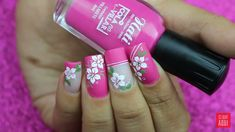 New nails acrilico rojas ideas Flower Nail Designs, French Nail Designs, White Nail Designs, Acrylic Nail Designs, Nail Art Designs, Finger, Super Nails, Prom Nails, Flower Nails