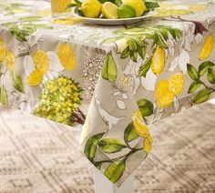 Outdoor All Over Lemon Print Pillow | Pottery Barn