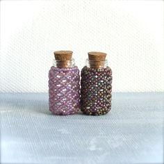 mini beaded bottle set $36 Balanced.etsy