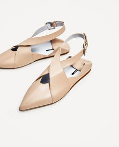Image 4 of FLAT LEATHER SHOES WITH BUCKLE from Zara