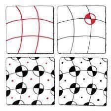 Resultado de imagen de zentangle patterns step by step