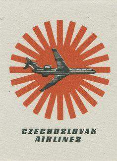 Czech airlines matchbox