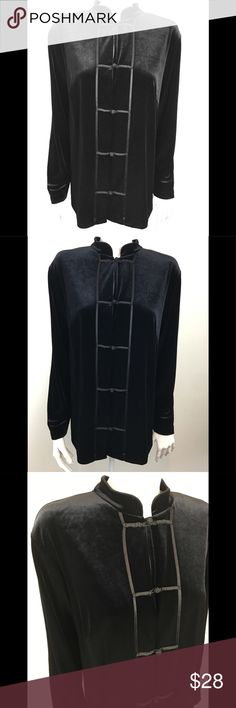 "Units Petite Black Velvet Stretchy Cardigan Jacket Units Petite Stretchy Black Velvet Button Front Cardigan Jacket  Size Petite Large  Condition: good, no flaws noted   90% Polyester & 10% Spandex  Armpit to Armpit - 21""  Sleeve Length - 23""  Total Length 27""  Thanks for stopping by and don't forget to check out our other listings  Inventory HANG2 Units Petite Jackets & Coats Blazers"