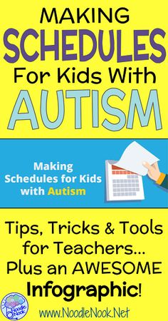 Making Schedules for Kids with Autism with Tips, Tricks, and Tools for Teachers and links to FREE printables!
